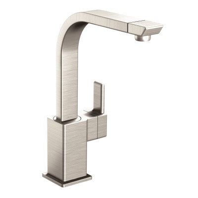 Moen 90 Degree One Handle High Arc Kitchen Faucet in Spot Resist Stainless - SpeedySinks