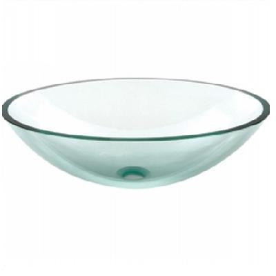 Oasis Superior Oval Glass Vessel Bathroom Sink