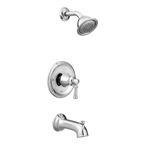 Moen Dartmoor Posi-Temp Tub/Shower Trim Only in Chrome - SpeedySinks