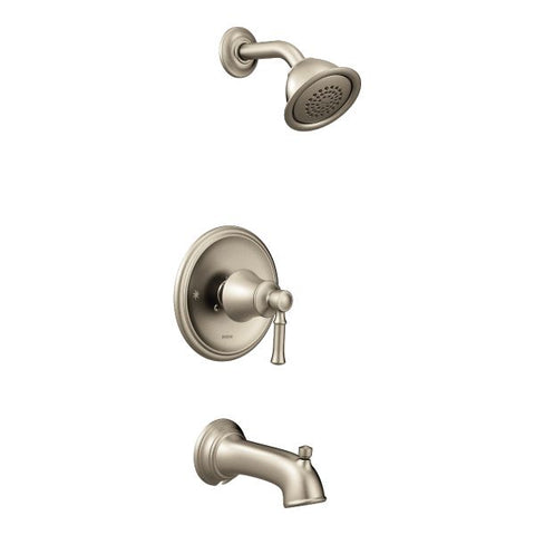Moen Dartmoor Posi-Temp Tub/Shower Trim Only in Brushed Nickel - SpeedySinks
