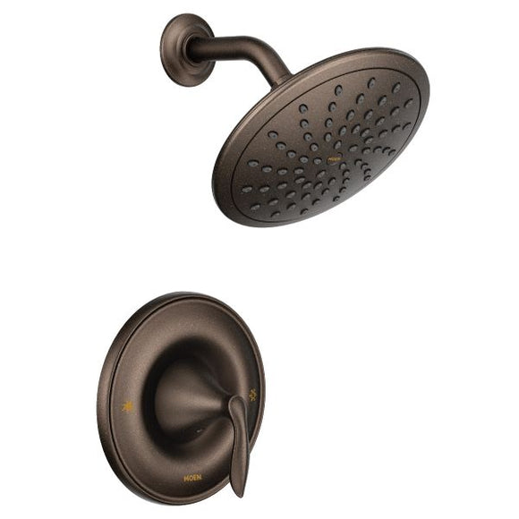 Moen Eva Posi-Temp Rain Shower Trim Only in Oil Rubbed Bronze - SpeedySinks