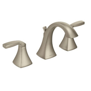 Moen Voss Wide Spread High Arc Bathroom Faucet in Brushed Nickel - SpeedySinks