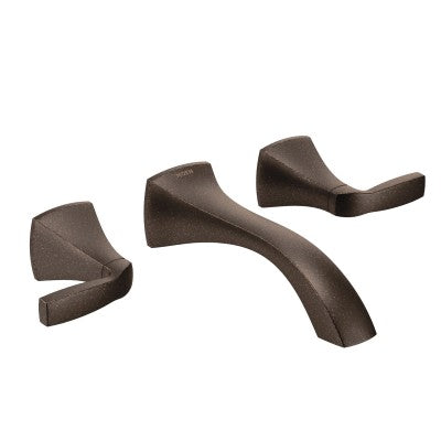 Moen Voss Two Handle Wall Mount Bathroom Faucet in Oil Rubbed Bronze - SpeedySinks
