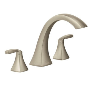 Moen Voss Brushed Nickel Two-Handle High Arc Roman Tub Faucet - SpeedySinks