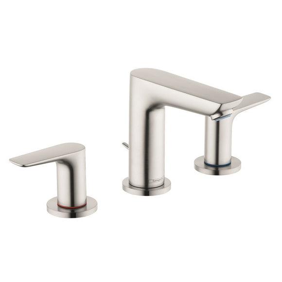 Hansgrohe Talis E 150 Widespread Faucet, 1.2 GPM in Brushed Nickel