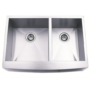 Master Chef Toulouse-33 Radial Stainless Steel Double Bowl Culinary Sink - SpeedySinks
