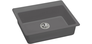 "Elkay ELGAD2522PDGS0 Quartz Classic 25"" x 22"" x 5-1/2"", Top Mount ADA Sink with Perfect Drain in Greystone"