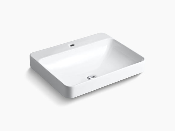 1 Hole Drop-In Vessel Bathroom Sink