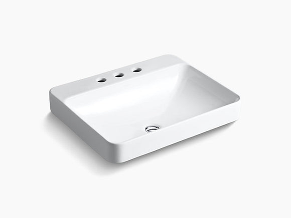 Lynx 3 Hole Widespread Drop-In Vessel Bathroom Sink