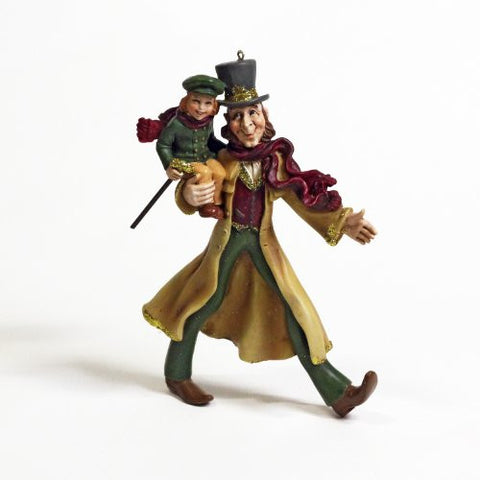Bob Cratchit and Tiny Tim Resin Ornament