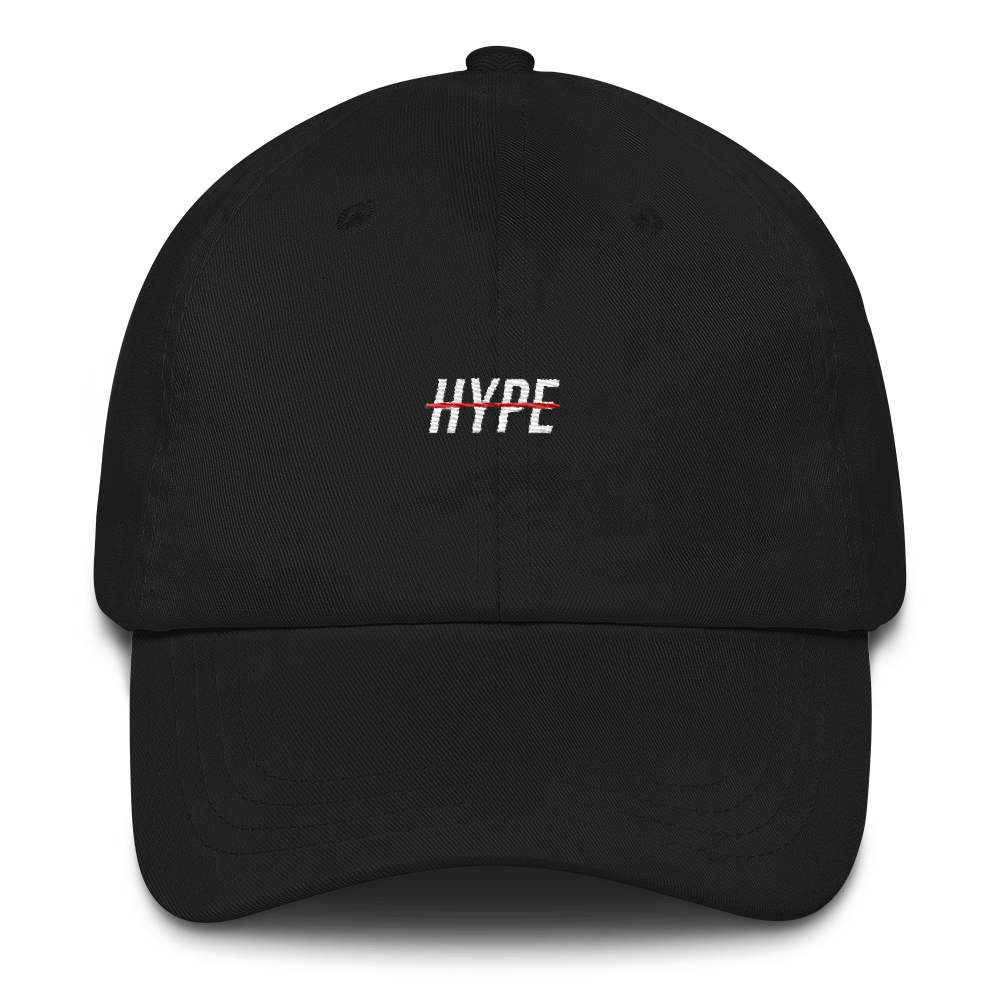 NO HYPE // CLASSIC DAD CAP // BLACK