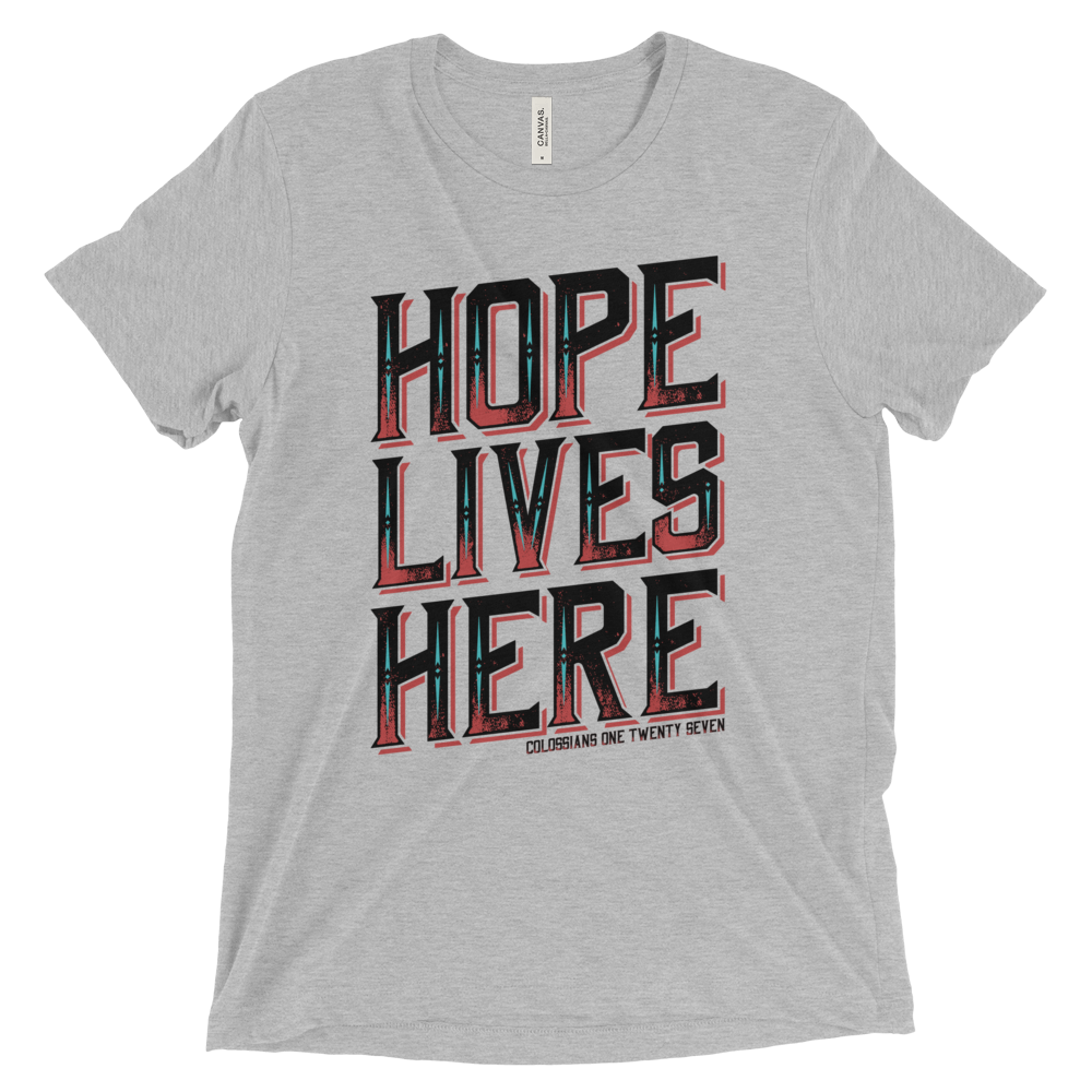 Hope Lives Here //Athletic Gray Short Sleeve