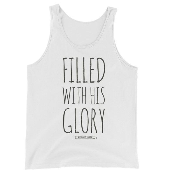 FILLED WITH HIS GLORY // THIN LINE WHITE TANK