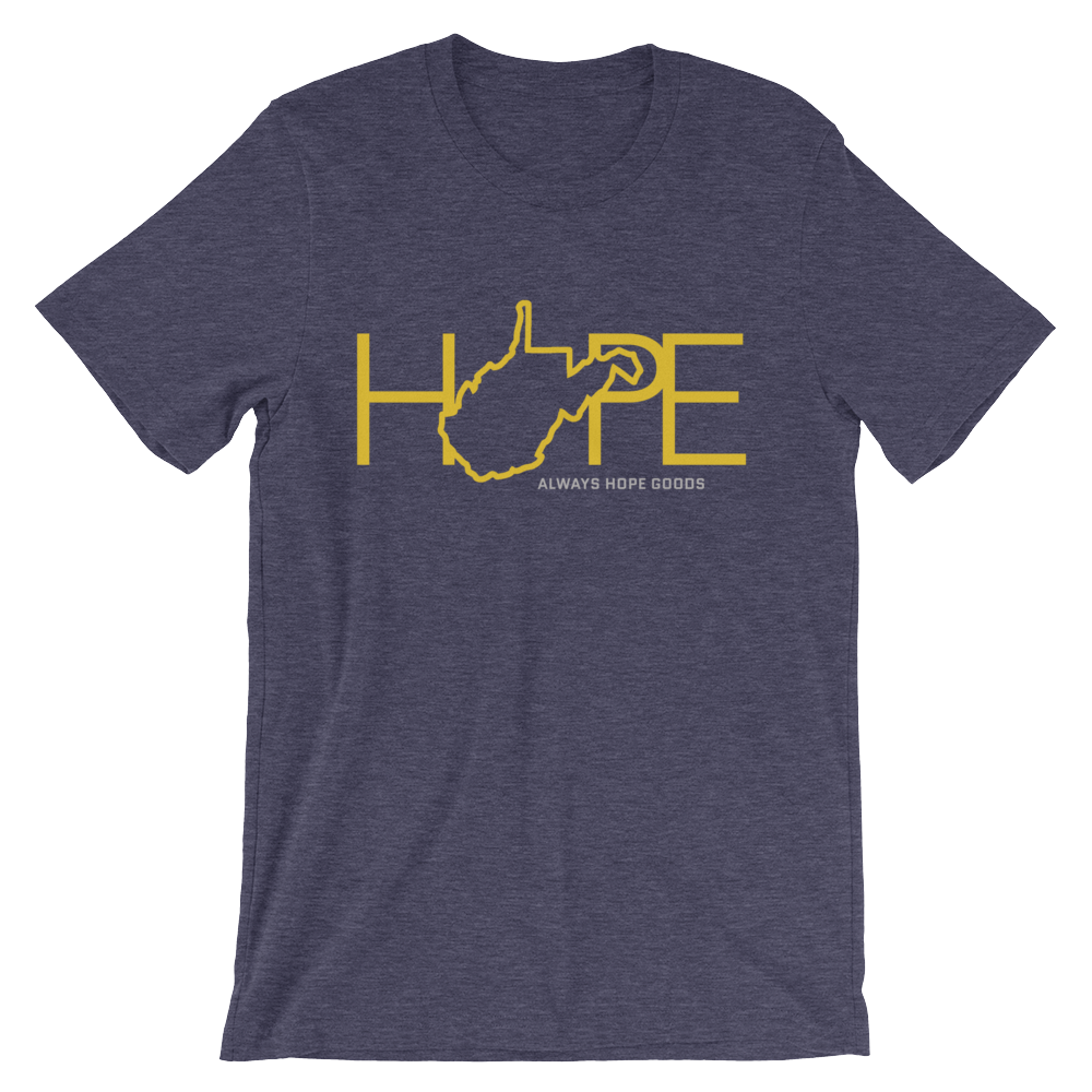 Home Is Where The Hope Is // WV Gold & Blue // Short Sleeve T