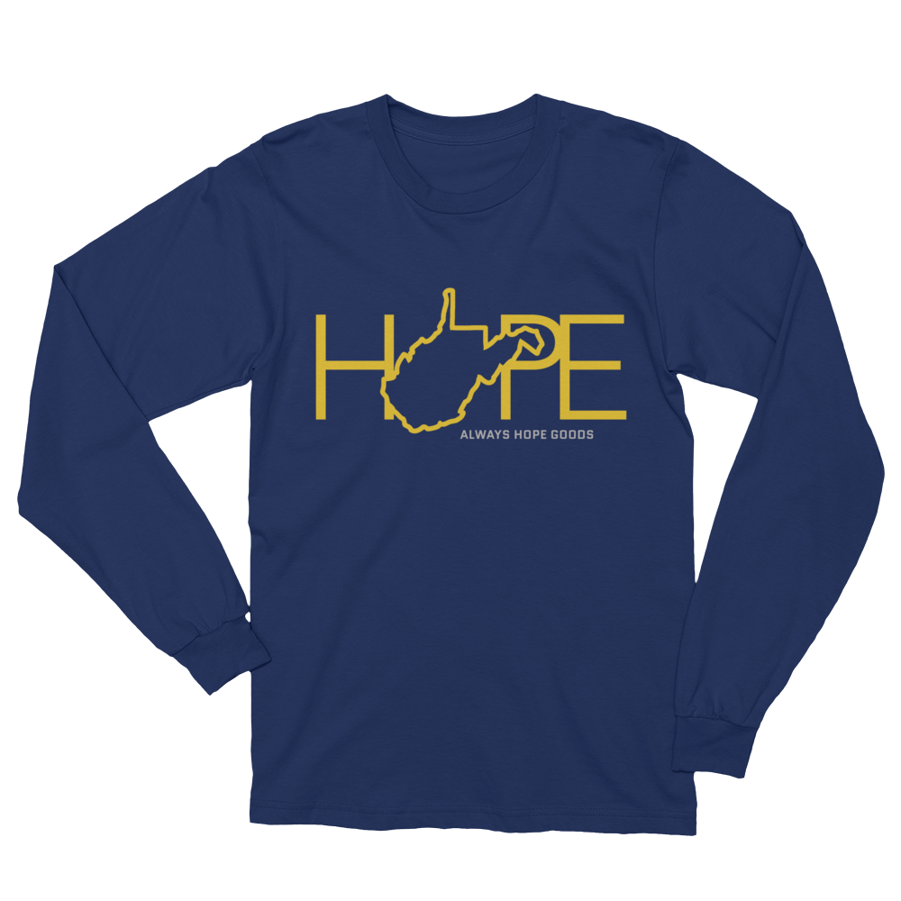 Home Is Where The Hope Is // WV Gold & Blue // Long Sleeve T