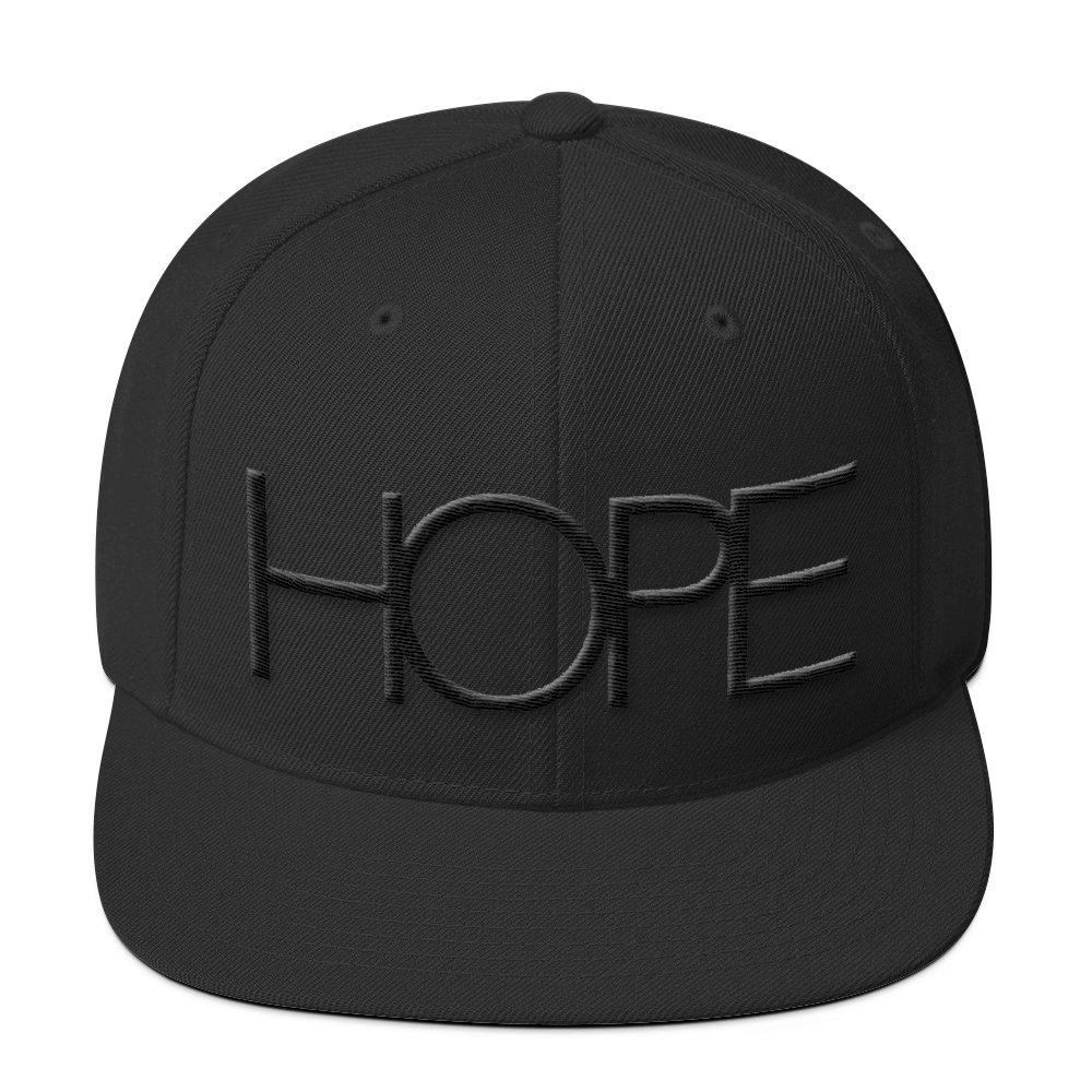 HOPE SNAPBACK // BLACK ON BLACK