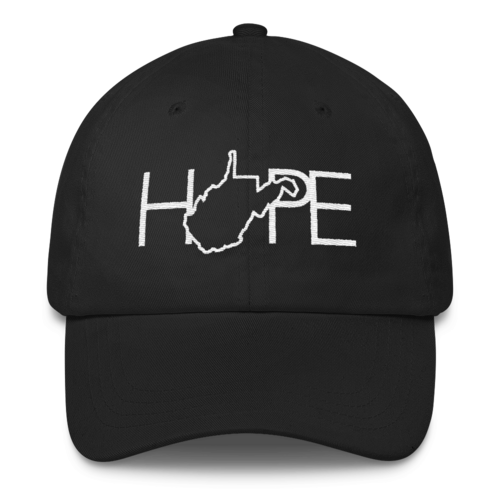 Home Is Where The Hope Is // WV Black & White // Classic Dad Cap