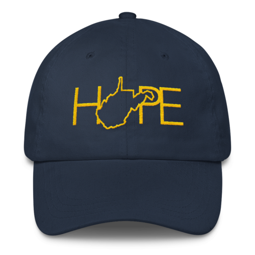 Home Is Where The Hope Is // WV Gold & Blue // Classic Dad Cap