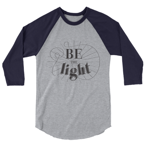 Divine Light 3/4 Sleeve Raglan (Black Logo)