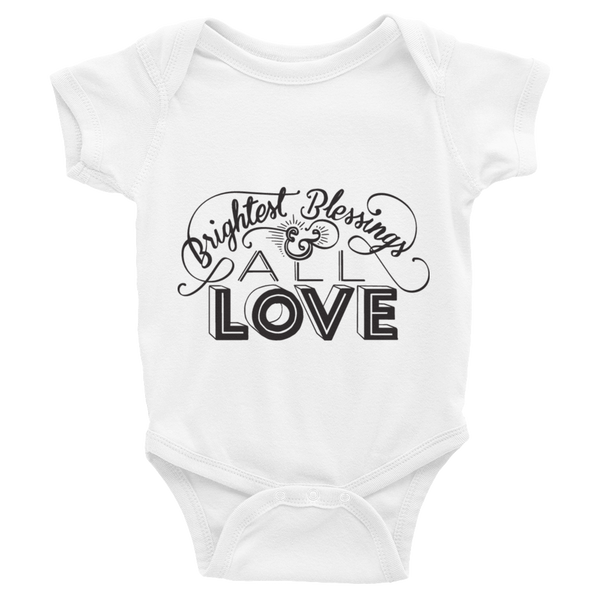 Divine Blessings Onesie (Black Logo)