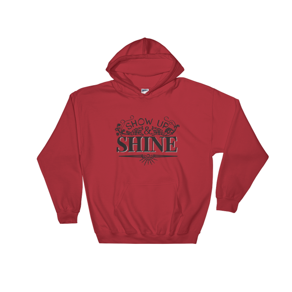 Divine Shine Hooded Sweatshirt (Black Logo)