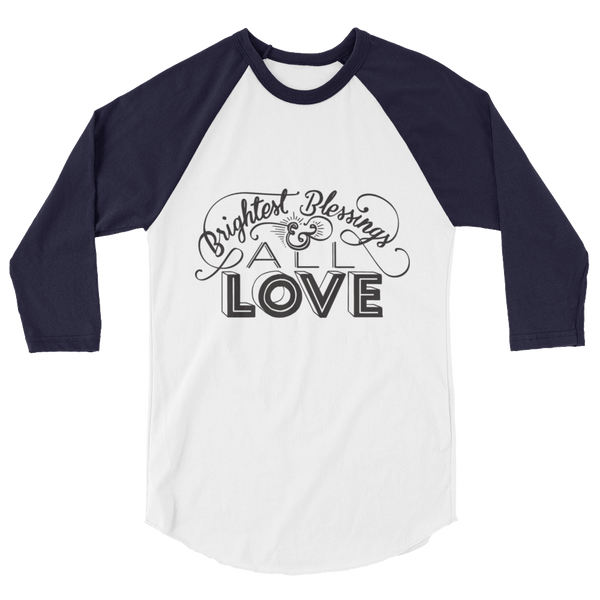 Divine Blessings 3/4 Sleeve Raglan (Black Logo)