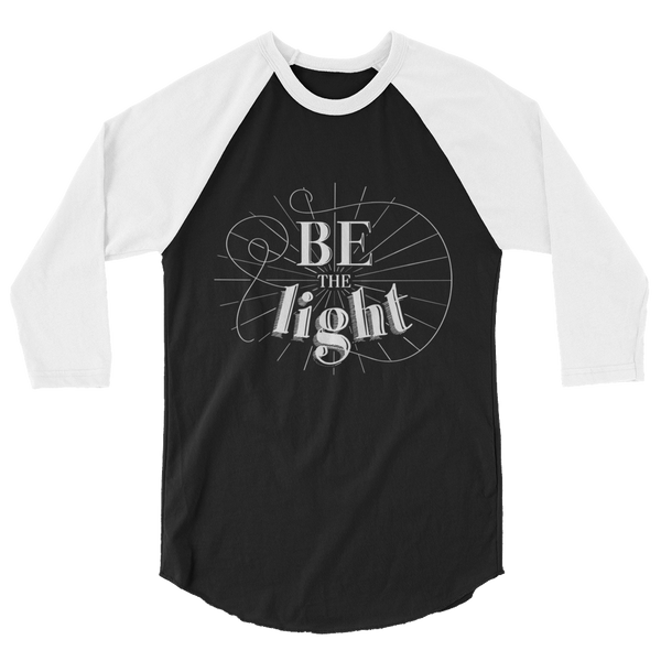 Divine Light 3/4 Sleeve Raglan (White Logo)