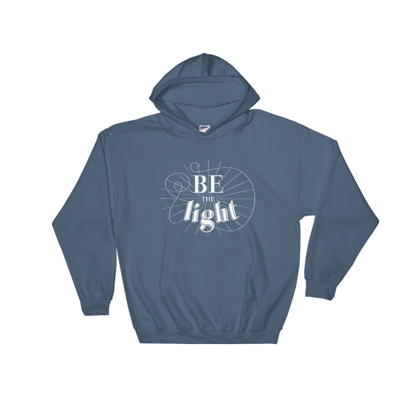 Divine Light Hooded Sweatshirt (White Logo)