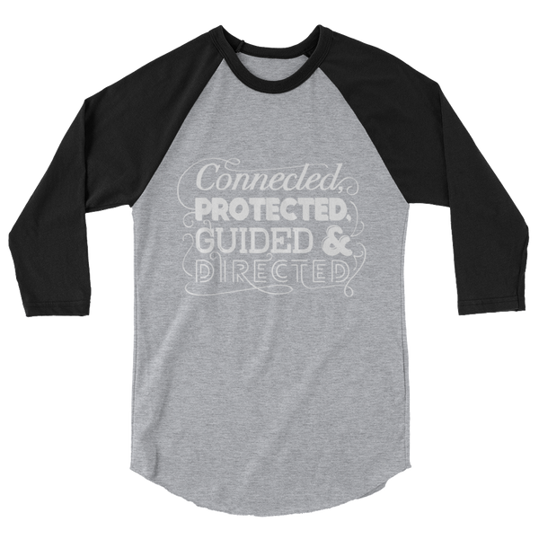 Divine Connected 3/4 Sleeve Raglan (White Logo)