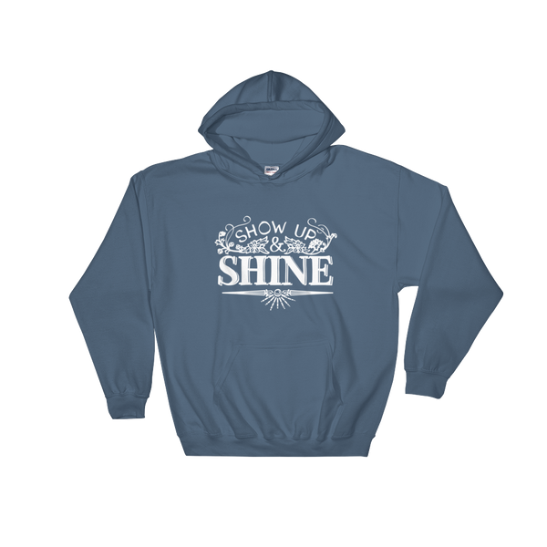 Divine Shine Hooded Sweatshirt (White Logo)