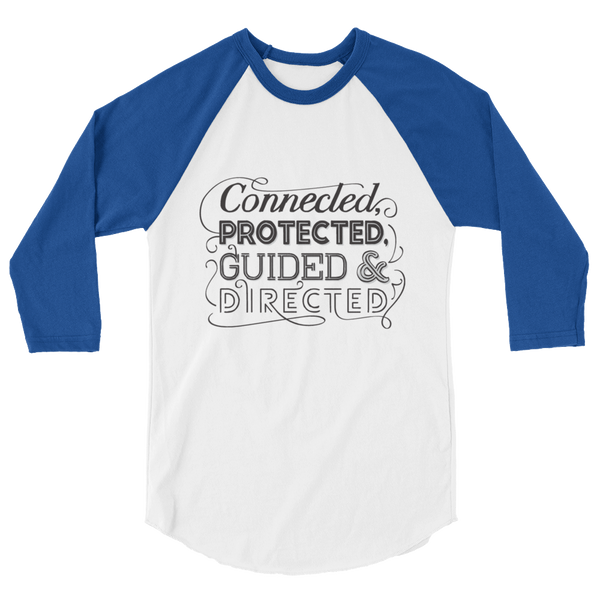 Divine Connected 3/4 Sleeve Raglan (Black Logo)