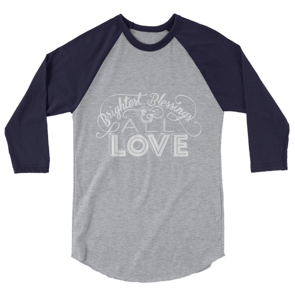 Divine Blessings 3/4 Sleeve Raglan (White Logo)