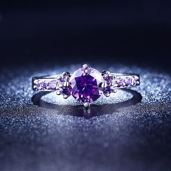 Dream Purple Amethyst Titanium Ring