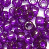Pony Beads 6 x 9mm Transparent Colors Pkg 1000
