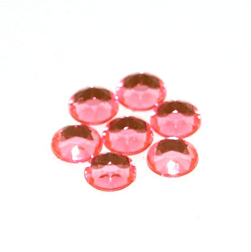Rhinestones 7mm RoundX144 Pink Foiled Back X630 015