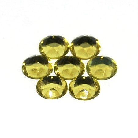 Rhinestones 11mm Round Yellow Foiled Back (144 per pkg) X632 027 - Creative Wholesale