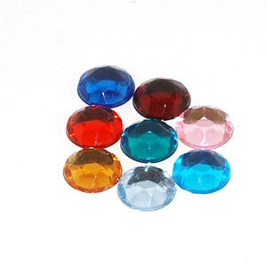 Rhinestones 11mm Round Multi Foiled Back (144 per pkg) X632 029 - Creative Wholesale