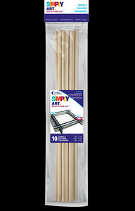 "Dowels 1/8"" X 12"" by Simply Art 22 Count 1021225 - Creative Wholesale"