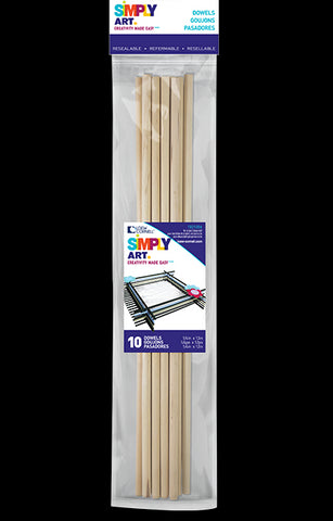 "Dowels 1/8"" X 12"" by Simply Art 22 Count 1021225"