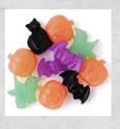 Halloween Novelty Beads Pearl Multi 1/4lb #114SV - Creative Wholesale