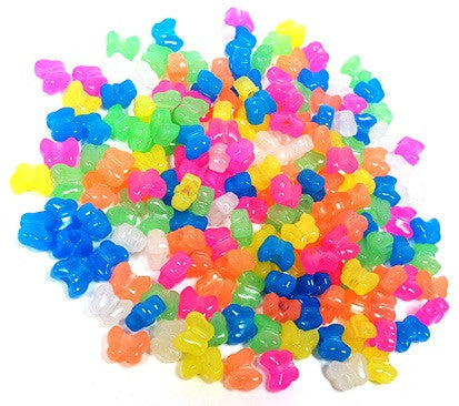 Plastic Butterfly Beads 13MM Glow Multi 1179V285 - Creative Wholesale