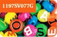 Alphabet Beads 10mm, Neon Multi  #1197SV077G - Creative Wholesale
