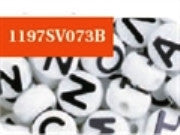 Alphabet Beads 10mm, White/Black  #1197SV073B - Creative Wholesale