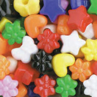 Pony Beads Mixed Opaque Multi 1/2 lb #1199SV076 - Creative Wholesale