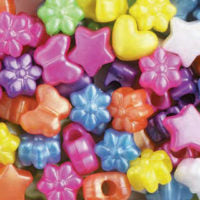Pony Beads Mixed  Pearl Multi 1/2 lb #1199SV139