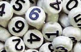 Number Beads Black & White 1690SV073BK
