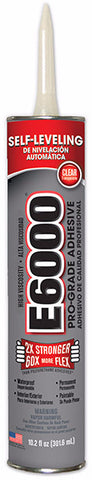E6000 Glue Clear HV 10.2 oz Cartridge, 12/Case #222011C - Creative Wholesale