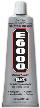 E6000® Glue Black MV 3.7oz tube 12/Case 230031C - Creative Wholesale