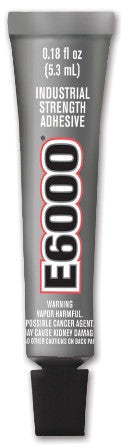 E6000 Glue Clear MV .18oz Tube 500/Case  #230400C - Creative Wholesale