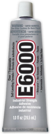 E6000 Glue CLEAR Medium Viscosity 1 ounce Tube , 12 Per Case #231012C - Creative Wholesale